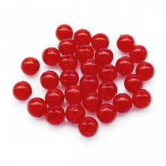"""Бусины Акрил """"Битое Стекло"""", Имитация, Круглые, Цвет: Красный, Диаметр: 10мм, Отверстие 2мм, около 45шт/25г,"""
