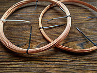 Медь 0.8 мм - 1 метр, медная проволока для рукоделия, бисера, бижутерии