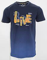 Футболка MAXWAY з написом Born Live темно-синя M (8732 dark blue)
