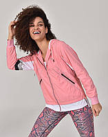 Олимпийка Bilcee розовая с капюшоном на сетчатой подкладке S (TB20WL10S8914 pink)