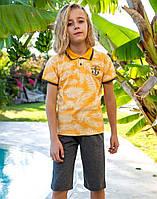 Комплект Elsima жовто-сірий з футболкою-поло 86 см (645v5)
