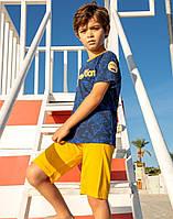 Комплект Elsima синьо-жовтий, що нагадує футбольну форму 86 см  (647v3)