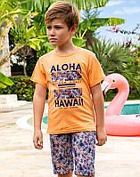 Комплект Elsima помаранчево-фіолетовий з гавайськими принтами 86 см  (650v2)