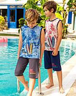 Комплект Elsima з безрукавки у тропічному стилі та шортів 86 см (658v4)