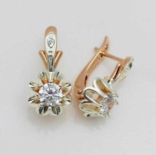 Серьги ювелирная бижутерия Fallon Jewelry, мед золото, 92202084-01 H-18 мм B-10 мм
