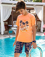 Комплект Elsima з помаранчевою футболкою Phuket 128 см  (1678v4)