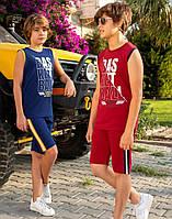 Комплект Elsima червоний з майки Basketball і шортів для підлітка 128 см (1692v2)