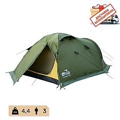 Намет Tramp Mountain 3 місна, TRT-023-green. Палатка туристична 3 місна. Намет експедиційний
