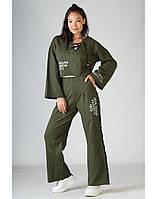 Спортивный костюм SONESTA в стиле кимоно цвета хаки S (DS3017 green)
