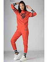Спортивный костюм SONESTA с брендированным хештегом кораллово-красный S (SN2767-68 red)