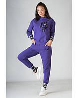 Спортивный костюм SONESTA с брендированным хештегом фиолетовый XS (SN2767-68 purple)