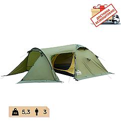Намет Tramp Cave 3 місний, TRT-021-green. Палатка туристична 3 місна. Намет експедиційний