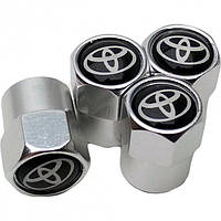 Захисні ковпачки на ніпель для Toyota Alitek Short Silver Тойота (4 шт)