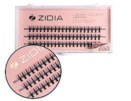 Вії накладні пучкові Zidia Cluster Lashes 16D KIM C 0.10 (3 лєнти, розмір 9 мм)