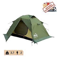 Намет Tramp Peak 2 місний, TRT-025-green. Палатка туристическая двошарова. Намет експедиційний