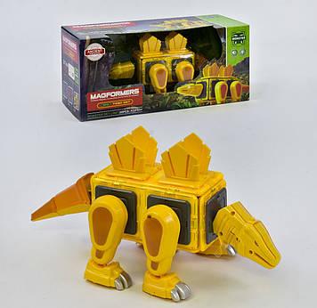 Конструктор магнитный динозавр Магнитный конструктор 20 деталей Конструктор-головоломка магнитный с светом