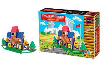 Конструктор магнитный детский 66 деталей Детский конструктор школа с магнитными и пластиковыми деталями
