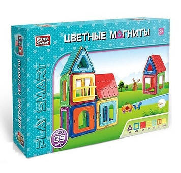 Детская игрушка магнитный конструктор Play Smart Конструктор магнитный 39 деталей Магнитный конструктор