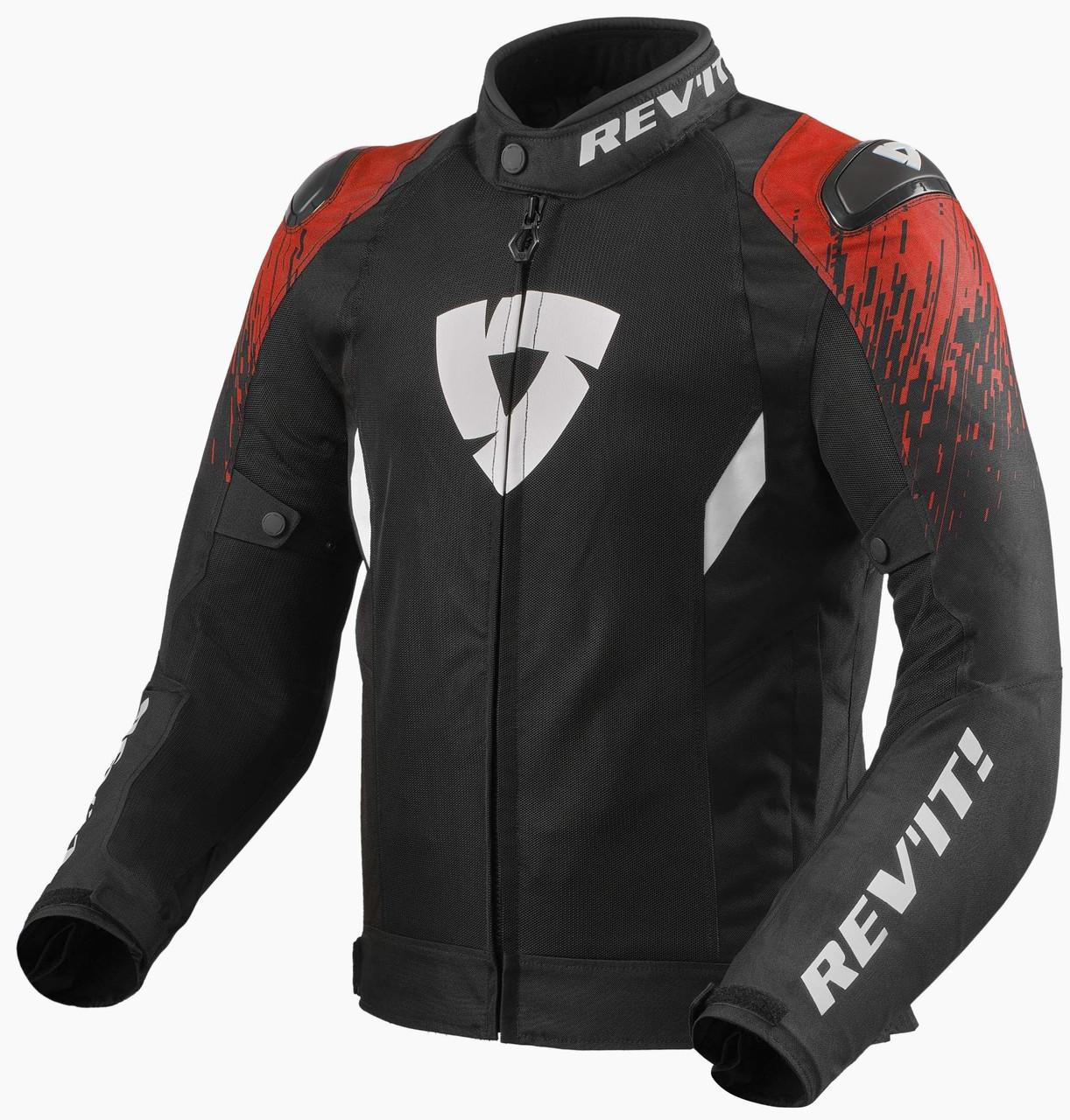 Мотокуртка текстильна Revit Quantum 2 Air чорний/червоний, XXL