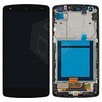 Дисплейный модуль (+ сенсор) для LG Google Nexus 5 D820 / D821, с передней панелью, черный, оригинал