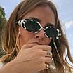 Окуляри жіночі сонцезахисні овальні пластикові ретро корівка, фото 6