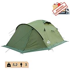Намет Tramp Mountain 4 місний, TRT-024-green. Палатка туристична двошарова. Намет експедиційний
