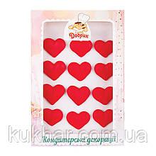 Прикраси на торт капкейк Сердечка №1