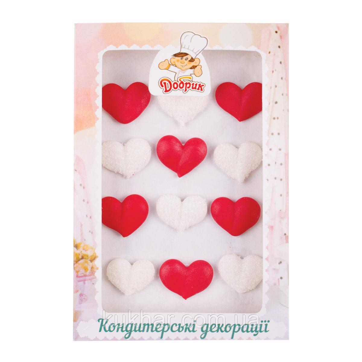 Украшения на торт капкейк Сердечка №2