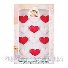 Прикраси на торт капкейк Сердечка №2