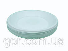 Одноразовая тарелка для второго блюда диаметр  205мм Эко (100 шт) мелкая (не глубокая) пластиковая