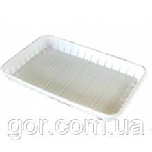 Лоток одноразовый   пластиковый , прямоугольный  (размер 130х210) (100 шт)