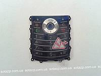 Клавиатура для мобильного телефона Motorola L7Е, синяя, русская, оригинал