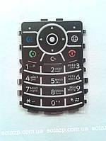 Клавиатура к мобильному телефону Motorola  V3x русская цвет-чёрный original