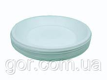 Тарелка одноразовая пластиковая 260 mm белая (50 шт)  мелкая (не глубокая) столовая для второго блюда