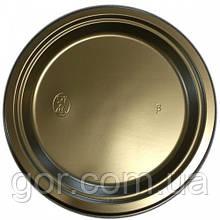 Тарелка одноразовая пластиковая 260 mm Черная (50 шт)  мелкая (не глубокая) столовая для второго блюда