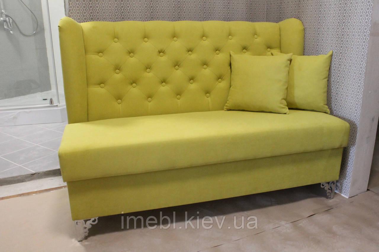 Невеликий диванчик з ящиком в коридор (Салатовий)