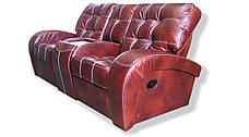 Кожаный двухместный диван-реклайнер Винс с баром, фото 3