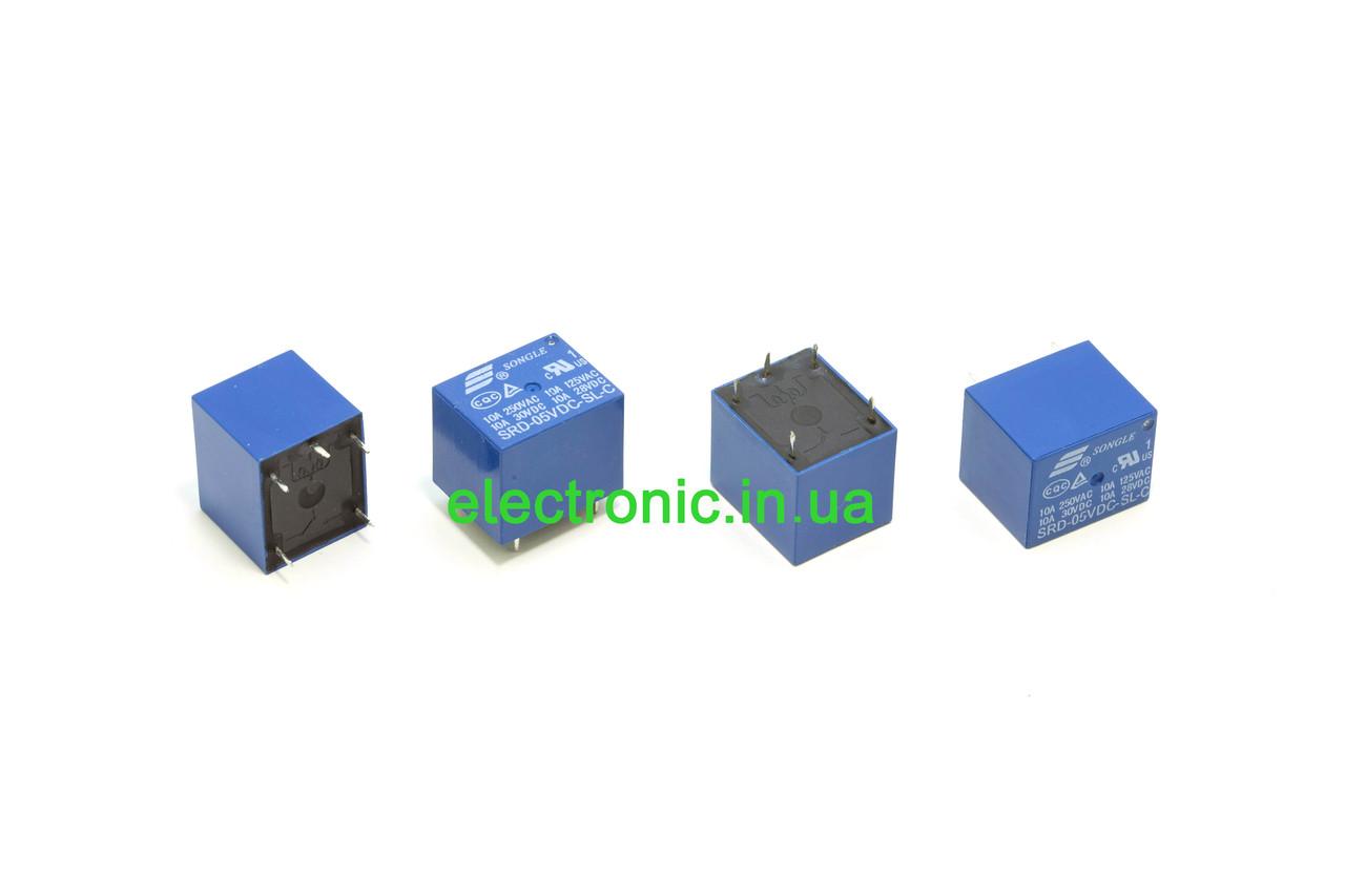 Реле електромагнітне SRD-5VDC-SL-C (T73) 5V 10A 250VAC SONGLE.