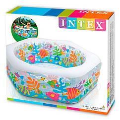 Intex надувной Бассейн Океанский риф 56493 летний детский для дачи, пляжа, семьи, детей интекс
