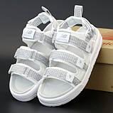 Женские сандали New Balance Caravan Multi Sandals в стиле босоножки Нью Беланс Белые Рефлектив (Реплика ААА+), фото 7