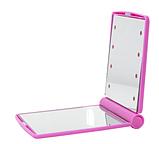 Мини зеркало для макияжа складное Travel Mirror Pink, Карманное зеркало с LED подсветкой на 8 светодиодов, фото 2