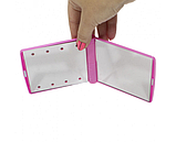 Мини зеркало для макияжа складное Travel Mirror Pink, Карманное зеркало с LED подсветкой на 8 светодиодов, фото 4