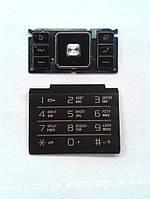 Клавиатура к мобильному телефону Sony Ericsson С905 верхняя и нижняя  русская цвет-чёрный  original