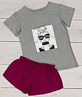 Пижама - футболка и шорты Молодежная одежда для дома и отдыха