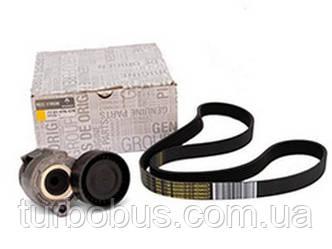 Комплект генератора +AC (ремень 6pk+натяжитель) на Рено Кенго 1.5dCi (01.2005>) Renault (оригинал) 117203694R