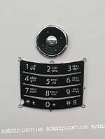 Клавиатура для мобильного телефона Samsung  U600 русская, верхняя и нижняя, чёрная,  High copy