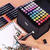 Набір скетч маркерів для малювання двосторонні Touch Sketch 60 шт маркери для скетчінга, фото 1