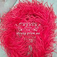 Боа страусиное пятислойное, цвет красный, длина 1,9м
