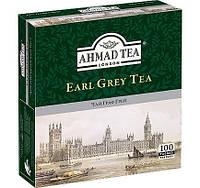 Чай в пакетиках Черный Граф Грей Earl Grey   AHMAD 100 пакетиков