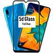 Защитное cтекло Samsung Galaxy А30s c рамкой Черный, фото 2